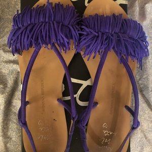 Banana republic fringe sandals size 9